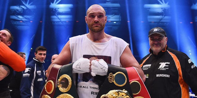Tyson Fury was at the top of boxing in 2015 before suffering from mental health issues. (Photo by Lars Baron/Bongarts/Getty Images)