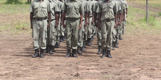 Helping keep the poachers at bay is the tough reputation of those protecting the elephants, and the introduction of stiff sentences - being caught with a firearm in the park can lead to a jail term of up to 16 years.