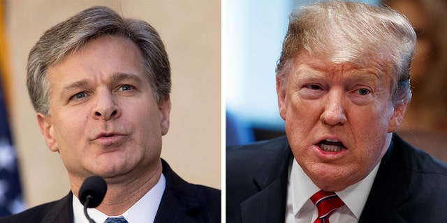 President Trump refused to say he has confidence in FBI Christopher Wray, who has previously stated he does not believe the president's campaign was spied on.