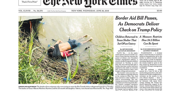 The heart-wrenching image plastered on the New York Times' front page has underscored the urgency of the immigration crisis.