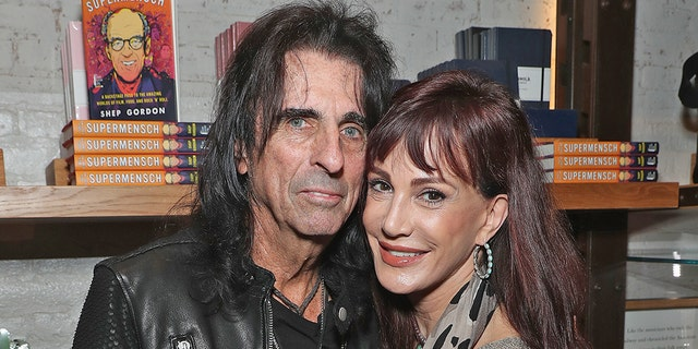 "Alice Cooper and wife Sheryl Goddard celebrate the release of Gordons Memoir, ""They Call Me Supermensch"" on Sept. 27, 2016 at Shinola Tribeca in New York City. Cooper and Goddard have been married since 1976."