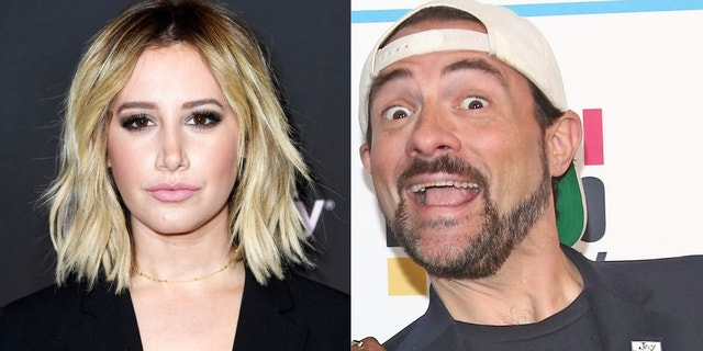 "Former Disney star Ashley Tisdale accused of Kevin Smith of hitting her car. The ""Clerks"" director fired back, but they've since mended fences."