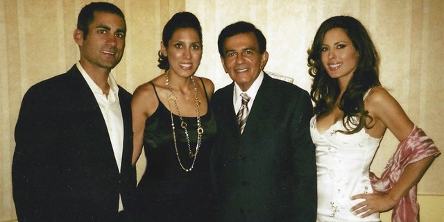 Casey Kasem with his three adult children from a previous marriage. — Courtesy of Kerri Kasem