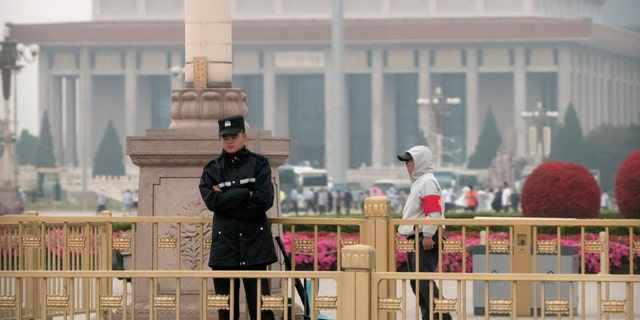 Chinese authorities stepped up security Tuesday around Tiananmen Square in central Beijing, a reminder of the government's attempts to quash any memories of a bloody crackdown on pro-democracy protests 30 years ago.