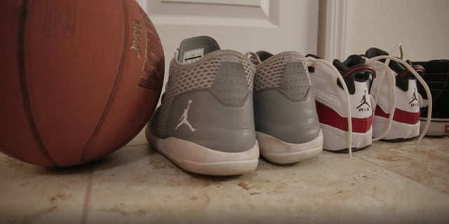 Shoes of the boys who are staying at the Florida-based home.