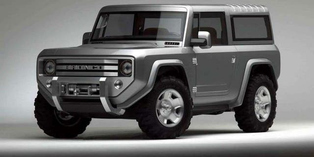 The Ranger-based Bronco is expected to feature heritage-inspired styling similar to this 2004 concept.
