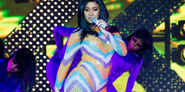Cardi B performs at the Bonnaroo Music and Arts Festival on Sunday, June 16, 2019, in Manchester, Tenn.