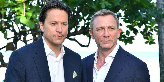 "Director Cary Fukunaga and cast member Daniel Craig attend the ""Bond 25"" film launch at Ian Fleming's Home 'GoldenEye' on April 25, 2019 in Montego Bay, Jamaica. Filming of ""Bond 25"" has faced a series of setbacks, with some insiders claiming the movie is ""doomed."""
