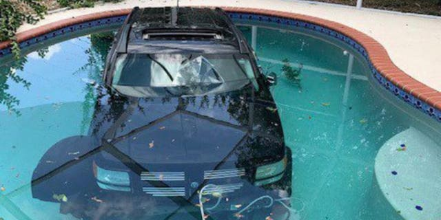 A driver in Sarasota, Fla., hit the gas instead of breaks and ended up at the bottom of a pool.