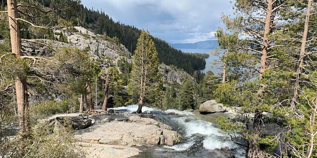 Eagle Falls in Emerald Bay where a young woman fell to her death while taking a picture.