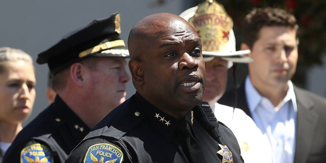 Acting San Francisco police chief Toney Chaplin is seen above. The city announced a new bias mitigation tool this week.