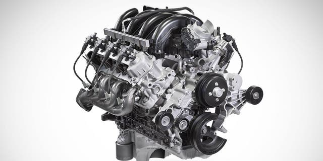 The power rating for the 7.3-liter V8 has not yet been announced.