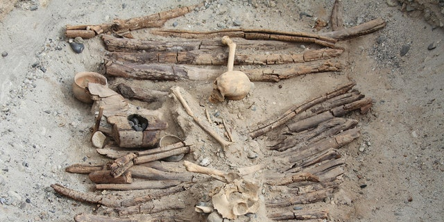 One of a tombs that archaeologists excavated on a Pamir Plateau.