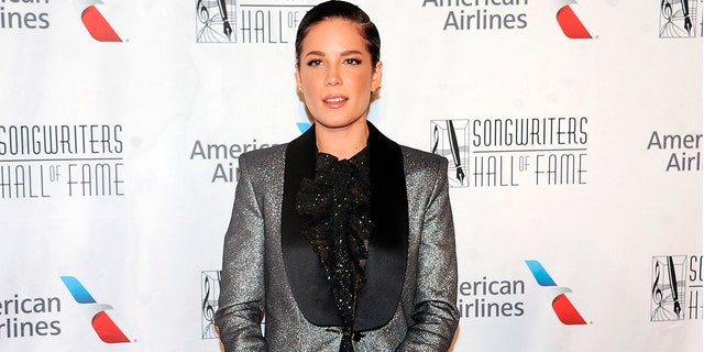 Halsey suggested that screenwriter Alev Aydin is the father by noticing him in the pregnancy announcement.  (Photo by Brad Barket / Invision / AP, File)