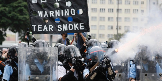 Hong Kong police have resorted to harsher-than-usual tactics to suppress protesters this week in the city's most violent turmoil in decades.