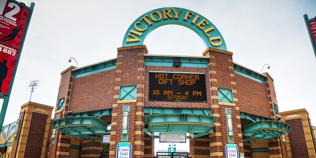 A child was struck by a foul ball along the first-base side on Saturday.