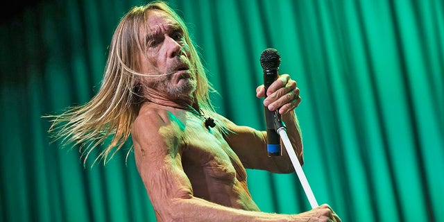 Iggy Pop performs at Festival Hall on his 72nd birthday - April 21, 2019 in Melbourne, Australia. Pop's ex-girlfriend said he once performed while high on elephant tranquilizers.