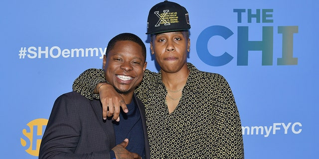 """Jason Mitchell and Lena Waithe attend an event promoting """"The Chi."""" Mitchell as let go from the Showtime series after complaints about his alleged misconduct on set. Waithe said she wished she'd done more to curb the problems."""