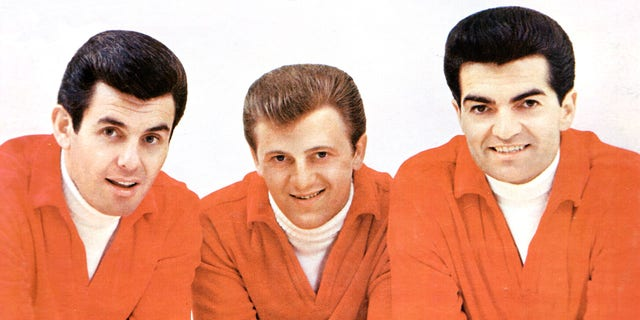 Pop music trio The Lettermen pose circa 1961. Left to right: Jim Pike, Tony Butala and Bob Engermann. Jim Pike died at 82 in June 2019.