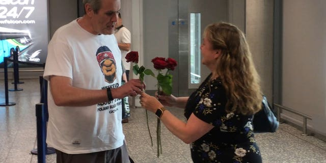 """Julie Raby didn't expect her husband Mark to have such a big surprise planned.""""We were going out for a meal that evening so I thought that would be the romance for the day,"""" she said."""