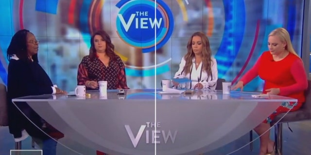 "A tense exchange ensued between ""The View"" hosts Meghan McCain and Whoopi Goldberg on Monday during a discussion about abortion rights in Alabama"