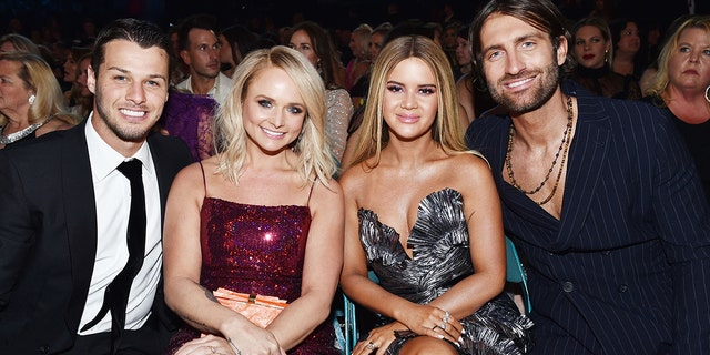 From l-r: Brendan McLoughlin, Miranda Lambert, Maren Morris and Ryan Hurd attend the 54th Academy Of Country Music Awards at MGM Grand Garden Arena on April 7, 2019 in Las Vegas.