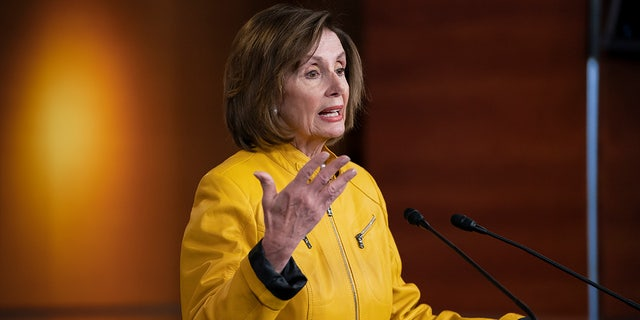 Speaker of the House Nancy Pelosi, D-Calif., reflects on President Donald Trump's statement that he would accept assistance from a foreign power, saying it's so against any sense of decency. (AP Photo/J. Scott Applewhite)
