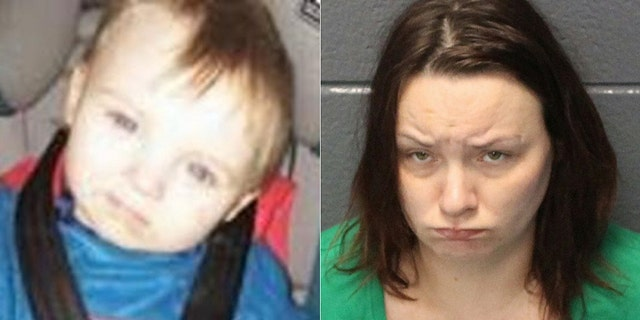 Police say remains found July 3 were those of missing two-year-old Noah Tomlin.His mother Julia Tomlin, 34, was arrested Friday and charged with child neglect four days after she reported him missing.(Hampton Police Department)