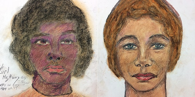 Little drew portraits of his victims from memory. The woman on the left has not been identified by police but Little recalls that she was killed in Cincinnati, sometime in 1974. The woman on the right has since been identified as Mary Jo Peyton, 21, who was killed in 1984.