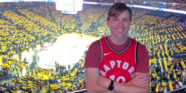 Eric George, a Toronto Raptors fan from Melbourne, Australia, traveled for Game 4 of the NBA Finals to Oakland.