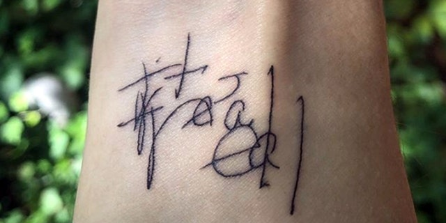 Madie Johnson got a tattoo of the first words her aunt wrote after coming back to life, saying she saw heaven.