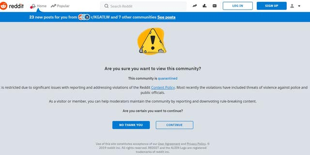 Reddit has restricted access to a pro-Trump forum.