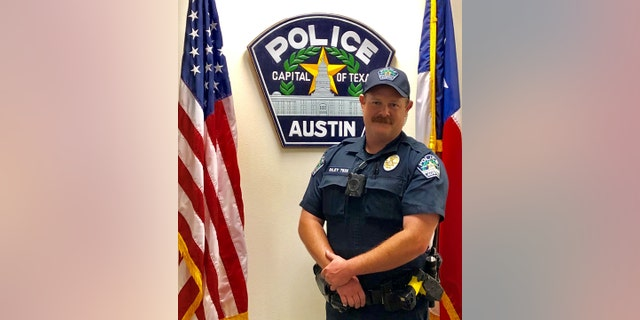 Officer James Riley was on patrol in the Baker sector of Austin on June 3 when he was alerted to a young child who was reportedly walking alone in a parking lot, the Austin Police Department said Monday.