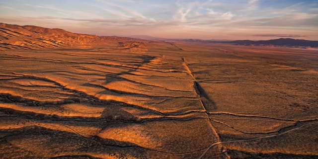 An aerial view of the San Andreas Fault. (Shutterstock)