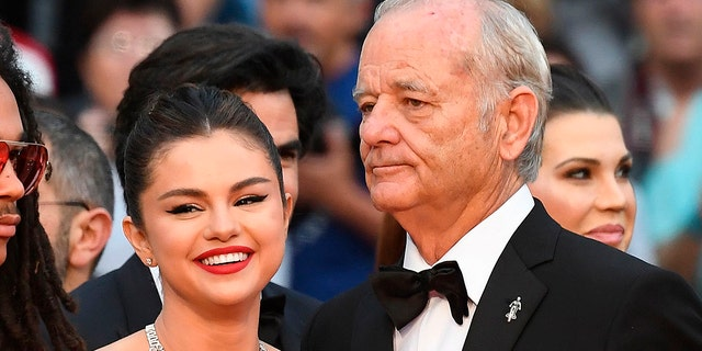 "Selena Gomez and Bill Murray bond at the Cannes Film Festival. The pair star in the upcoming zombie comedy ""The Dead Don't Die."""
