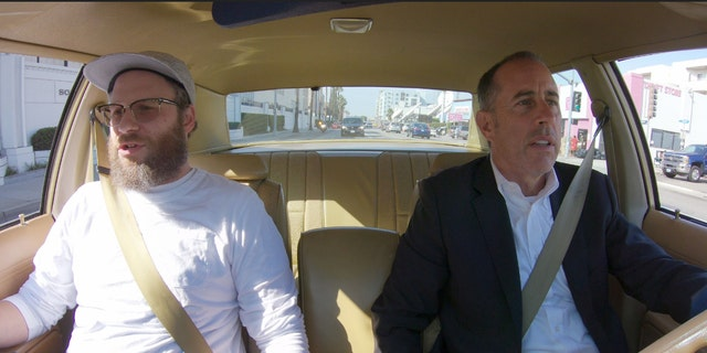 "Seth Rogen with Jerry Seinfeld (R) in ""Comedians in Cars Getting Coffee""<br>
