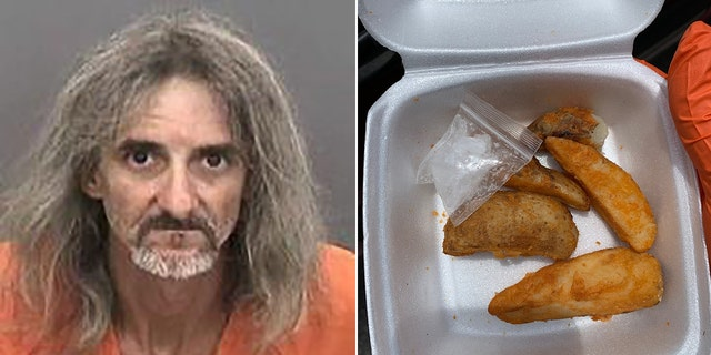 James Simpson, 48, was arrested after police said they discovered meth mixed in with his potato wedges.
