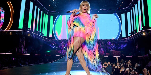 Taylor Swift rocked out in a rainbow outfit at the iHeartRadio Wango Tango festival. Swift spoke out in support of the Equality Act an gay rights during her set.
