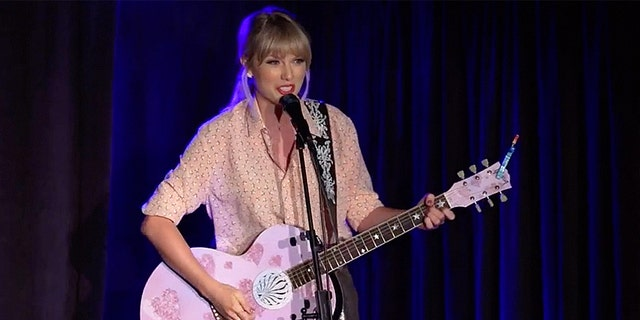 Taylor Swift goes on stage at Stonewall Inn in New York