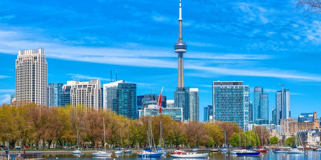 Urban skyline of the capital city of the province of Ontario, Toronto, is one of the most photographed places in Canada.