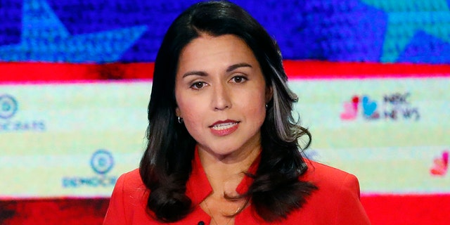 Gabbard shot up as the most searched for Democratic candidate on Google after the first primary debate Wednesday -- outpacing Sens. Elizabeth Warren, D-Mass., and Corey Booker, D-NJ. (AP Photo/Wilfredo Lee)