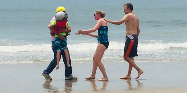 """Declan O'Connor, 8, was vacationing with his family in <a data-cke-saved-href=""""https://www.foxnews.com/category/us/us-regions/southeast/north-carolina"""" href=""""https://www.foxnews.com/category/us/us-regions/southeast/north-carolina"""" target=""""_blank"""">North Carolina</a> on June 3 when a strong gust of wind pushed the float he was on into deep waters within seconds."""