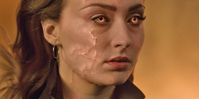 "This image released by Twentieth Century Fox shows Sophie Turner in a scene from ""Dark Phoenix."""