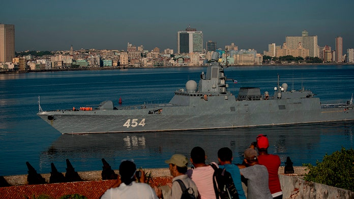 Advanced Russian warship armed with cruise missiles docks in Havana's harbor