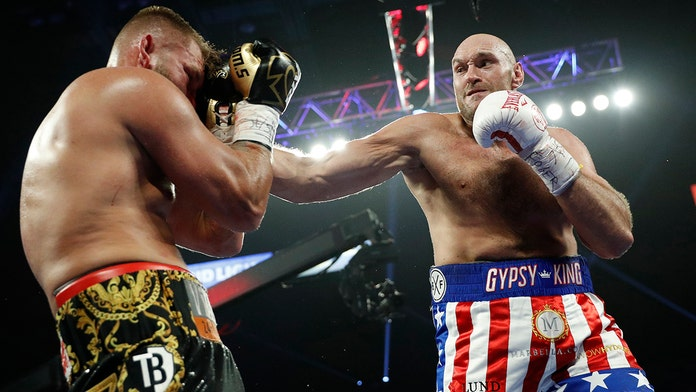 Tyson Fury shows off incredible head movement during Tom Schwarz fight