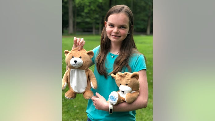 Connecticut girl, 12, with rare disorder creates teddy bears that hide IV bags