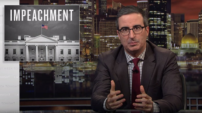 HBO's John Oliver becomes latest figure to talk up Trump impeachment