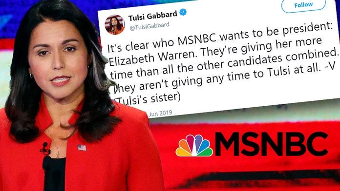 Tulsi Gabbard's sister calls out MSNBC for favoring Elizabeth Warren in the debate