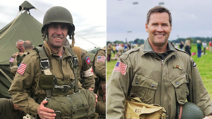 Lawmakers mark D-Day anniversary with Normandy parachute jump