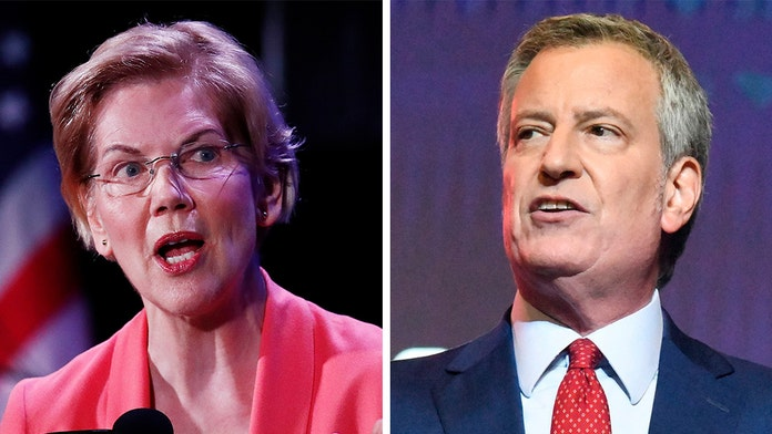 Only Warren, de Blasio willing to eliminate their own private health care, as Dems put on the spot during d...